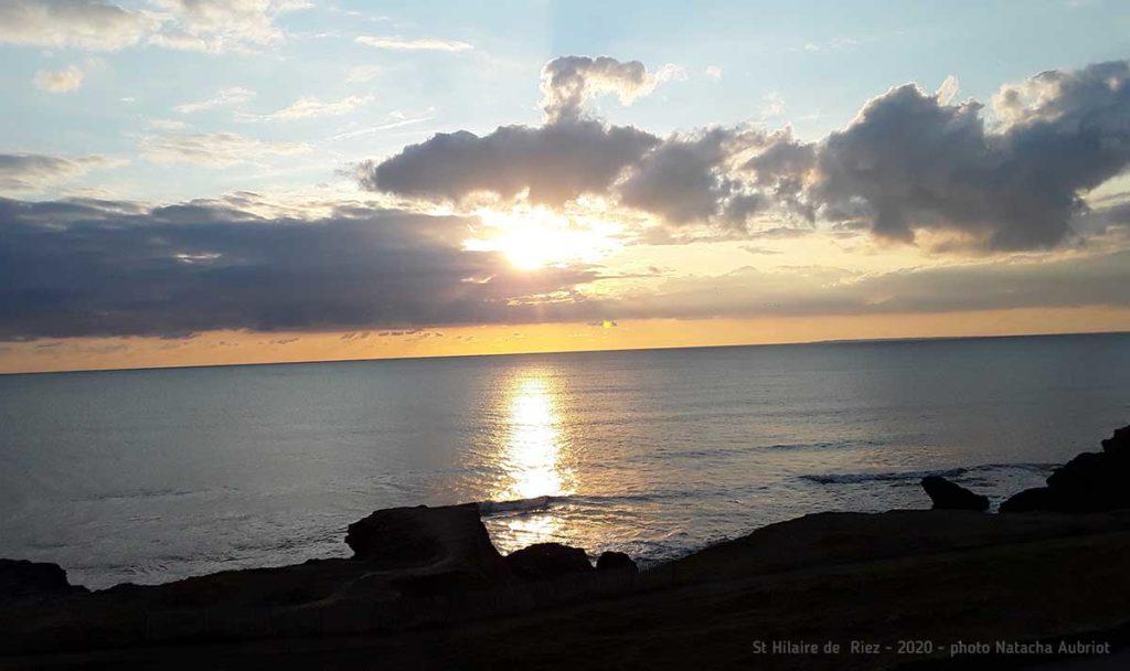 Bien-être en Vendée, vue sur la mer à St Hilaire de riez, octobre 2020